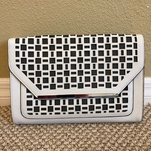 White cutout clutch